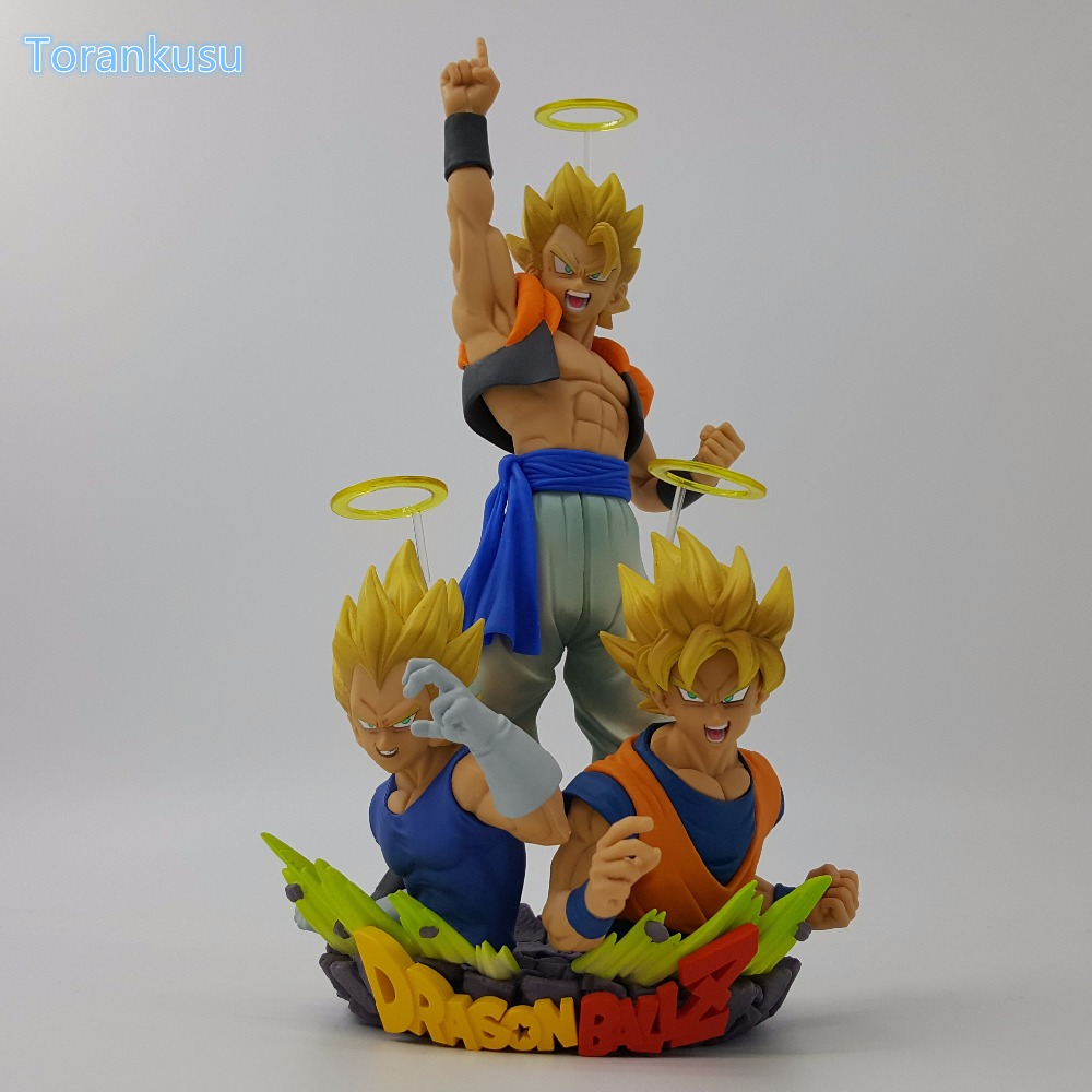 Orijinal Dragon Ball Z Action Figure Goku Vegeta Gogeta Büstü PVC Şekil Oyuncak 160mm Dragon Ball Dragon Ball Süper Gogeta Model