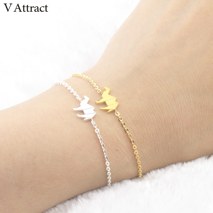 V Attract Fashion Animal Jewelry Bracelet Homm 2017 Stainless Steel Cute Origami Camel Bracelet For Women Birthday Gift